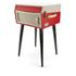 GPO Retro Bermuda Classic Style Turntable with MP3, USB, Built-In Speakers and Removable Legs - Red/Cream: Image 2