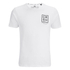 Crosshatch Herren Hicker Graphic T-Shirt - White: Image 1