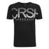 Crosshatch Men's Crusher Graphic T-Shirt - Black: Image 1