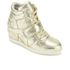 Ash Kids' Babe Metal Rock Wedged Hi Top Trainers - Platine: Image 2