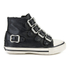 Ash Kids' Fanta Leather Hi Top Trainers - Black: Image 1