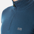 BOSS Green Men's Zime Quarter Zip Jumper - Blue: Image 5