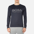 BOSS Green Men's Salbo Logo Sweatshirt - Blue: Image 1