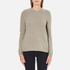 Barbour Heritage Women's Stratus X-Back Crew Neck Jumper - Stone Marl: Image 1