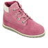 Timberland Toddlers' Pokey Pine Size Zip Lace Up Boots - Pink Nubuck: Image 2