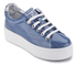KENZO Women's K-Lace Platform Trainers - Denim: Image 2