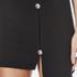 Versus Versace Women's Button Jersey Split Skirt - Black: Image 4