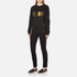 Versus Versace Women's Textured Logo Sweatshirt - Black: Image 4