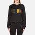 Versus Versace Women's Textured Logo Sweatshirt - Black: Image 1