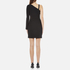 Versus Versace Women's Half Sleeveless Half Long Sleeve Fitted Dress - Black: Image 3