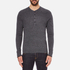 rag & bone Men's Giles Henley Top - Charcoal: Image 1