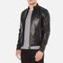 J.Lindeberg Men's Trey Leather Jacket - Black: Image 2