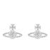 Vivienne Westwood Jewellery Women's Grace Bas Relief Stud Earrings - Crystal: Image 1