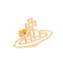 Vivienne Westwood Jewellery Women's Thin Lines Flat Orb Stud Earrings - Gold: Image 2
