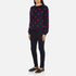 PS by Paul Smith Women's Heart Intarsia Jumper - Navy: Image 4