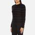PS by Paul Smith Women's Fine Stripe Jumper - Black: Image 2