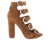 Kendall + Kylie Women's Evie Suede Strappy Heeled Sandals - Modern Cognac: Image 1