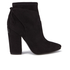 Kendall + Kylie Women's Zola Suede Heeled Ankle Boots - Black: Image 1