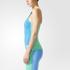 adidas Women's Stellasport Gym Tank Top - Blue/Green: Image 2