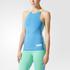 adidas Women's Stellasport Gym Tank Top - Blue/Green: Image 1