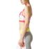 adidas Women's Stellasport Printed Gym Bra - White/Pink: Image 2