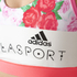 adidas Women's Stellasport Printed Gym Bra - White/Pink: Image 4
