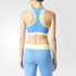 adidas Women's Stellasport Gym Bra - Blue/Yellow: Image 3