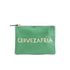 Clare V. Women's Flat Clutch Bag - Emerald Nappa With Blush Cervezafria: Image 1