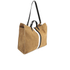 Clare V. Women's Supreme Simple Tote Bag - Camel Suede With Black/White Stripes: Image 3