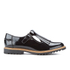Clarks Women's Griffin Mia Patent Frill T Bar Shoes - Black: Image 1