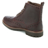 Clarks Men's Montacute Lord Brogue Lace Up Boots - Chestnut: Image 4