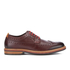 Clarks Men's Pitney Limit Leather Brogues - Chestnut: Image 1