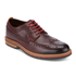 Clarks Men's Pitney Limit Leather Brogues - Chestnut: Image 2