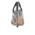 Clarks Women's Dinah Keer Leather Metallic Court Shoes - Silver Metallic: Image 3
