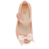 Mini Melissa Toddlers' Ultragirl Silk Bow Ballet Flats - Nude: Image 3