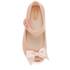 Mini Melissa Toddlers' Ultragirl Silk Bow Ballet Flats - Nude: Image 3
