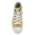 Converse Kids' Chuck Taylor All Star Metallic Leather Hi-Top Trainers - Light Gold/White/White: Image 3