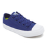Converse Kids Chuck Taylor All Star II Tencel Canvas Ox Trainers - Sodalite Blue/White/Navy: Image 2