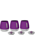 Morphy Richards 971364 Chroma Set of 3 Canisters - Plum: Image 1