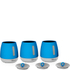 Morphy Richards 971365 Chroma Set of 3 Canisters - Blue: Image 1