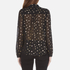 Maison Scotch Women's Sheer Printed Top with Neck Tie - Black: Image 3