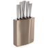 Morphy Richards 974817 5 Piece Knife Block - Copper: Image 1
