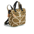 Orla Kiely Women's Linear Stem Print Small Backpack - Camel: Image 3