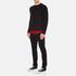 McQ Alexander McQueen Men's Recycled T-Shirt - Dark Black/Red Tartan: Image 4