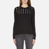 MICHAEL MICHAEL KORS Women's Slash Neck Crew Sweater - Black: Image 1