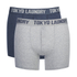 Tokyo Laundry Men's 2-Pack Port Douglas Boxers - Mood Indigo Marl/Mid Grey Marl: Image 1
