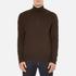 Polo Ralph Lauren Men's Half Zip Merino Knitted Jumper - Brown Marl: Image 1