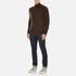 Polo Ralph Lauren Men's Half Zip Merino Knitted Jumper - Brown Marl: Image 4