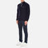 Lacoste Men's Half Zip Funnel Neck Sweatshirt - Navy Blue/Silver Chine: Image 4