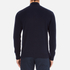 Lacoste Men's Half Zip Funnel Neck Sweatshirt - Navy Blue/Silver Chine: Image 3